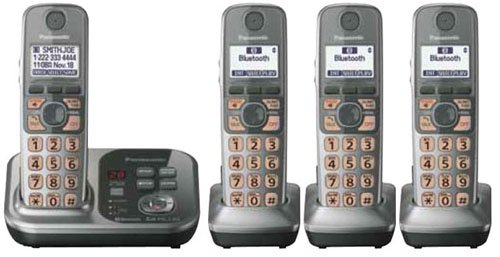 Panasonic Kx-Tg254Sk Dect 6.0 Link-To-Cell Via Bluetooth Cordless Phone With Answering System