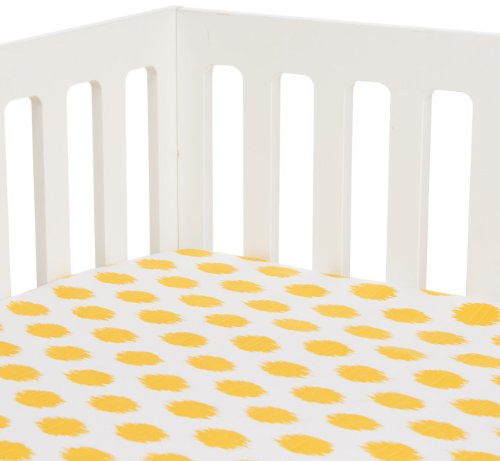 Sweet Potato Yellow Dot Fitted Sheet, Swizzle