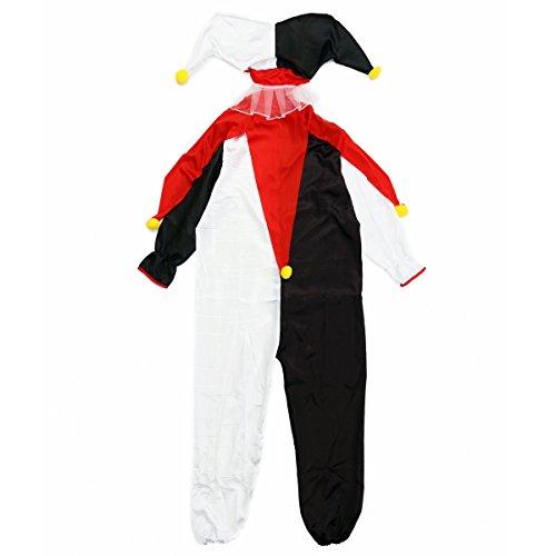 ハロウィン コスプレ メンズ ピエロ 大人用 3点セット パーティー コスチューム 仮装 衣装 VEROMAN (ピエロ)