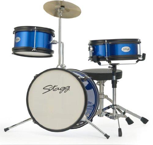 Stagg Tim Jr 3/12 Bl 3 Piece Junior Drum Set With Hardware - Blue
