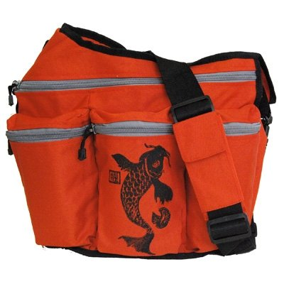 Diaper Dude Orange Koi Diaper Bag Mesenger - New!