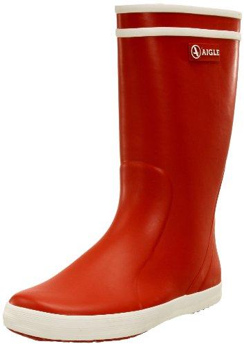 Aigle Lolly Pop Gummistiefel 84558/32 Unisex-Kinder Ungefüttert Gummistiefel Langschaft Stiefel & Stiefeletten, Rot (rouge / blanc 8), 32 EU
