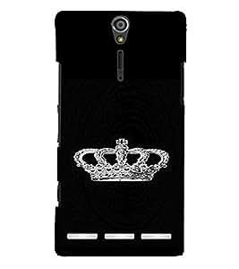 PrintVisa King's Crown Glittery 3D Hard Polycarbonate Designer Back Case Cover for Sony Xperia S :: SL LT26I LT26ii