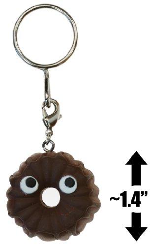 "Chocolate Bundt Cake ~1.4"" Mini-Figure Keychain: Yummy Dessert Vinyl Figure Keychains Series"