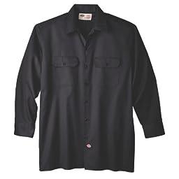 Dickies Men\'s Big-Tall Long Sleeve Work Shirt, Black,3XT