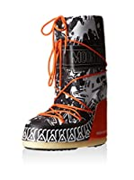 Moon Boot Botas de invierno Pool (Negro / Blanco / Naranja)