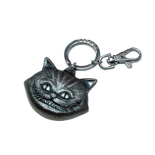 Disney Pewter Key Ring - Cheshire Cat Face
