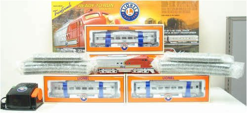 el capitan sante fe o gauge train set with train sounds
