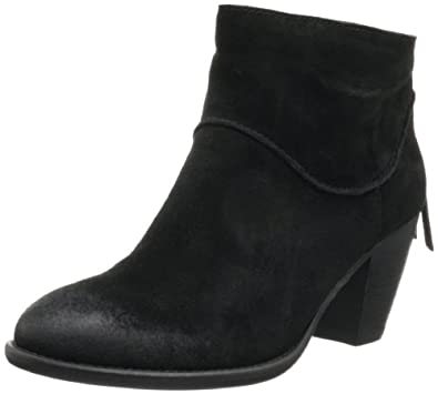 Steve Madden Women's Milaan Ankle Boot,Black Suede,5.5 M US