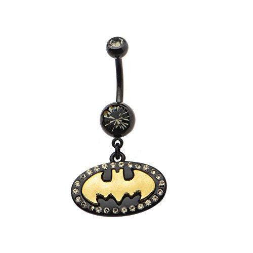DC Comics Batman Logo Gold Bat Logo Belly Button Ring (Logo Belly Button Rings compare prices)