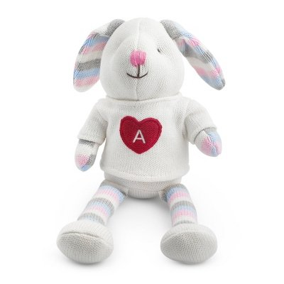 Personalized Knit Bunny front-376696