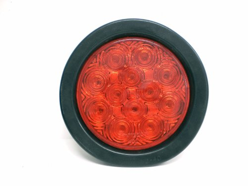 "Jammy J-4512-Rk 4"" Round Red Led Stop Turn Tail Brake Light"