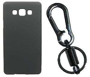 XUWAP Hard Case Cover With Matallic KeyChain For Samsung Galaxy On7 - Black