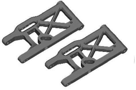 Redcat Racing Hurricane XTE & Hurricane XTR Rear Lower Suspension Arm (2 Piece)