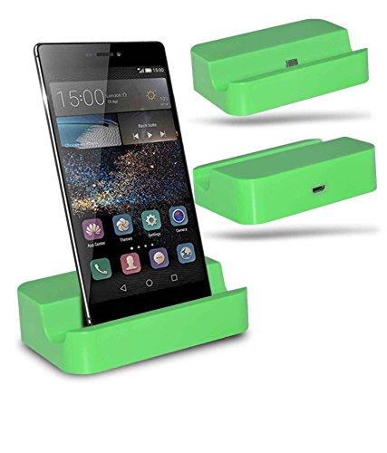 Huawei P8 Station d'accueil de bureau avec chargeur Micro USB support de chargement - Green - By Gadget Giant®