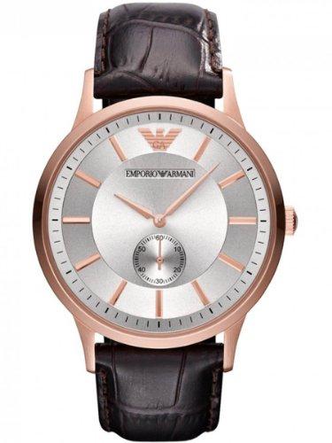 Emporio Armani AR9101M - Reloj para hombres, correa de cuero color marrón