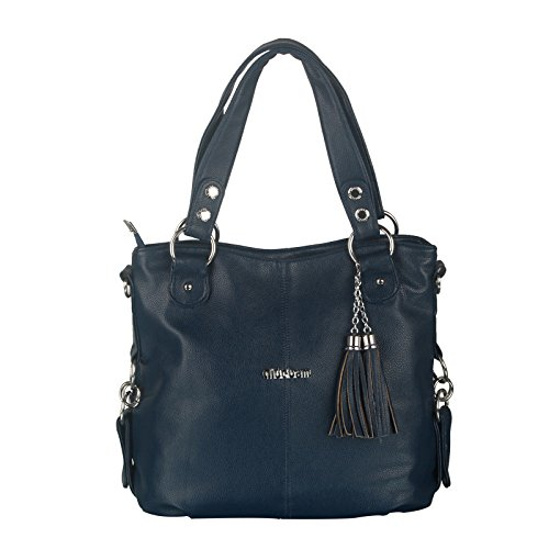 koson-man-womens-new-style-soft-pu-leather-vintage-tassels-ornaments-tote-bags-shoulder-bagsnavy