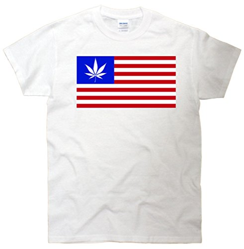 American USA Weed Flag T-Shirt