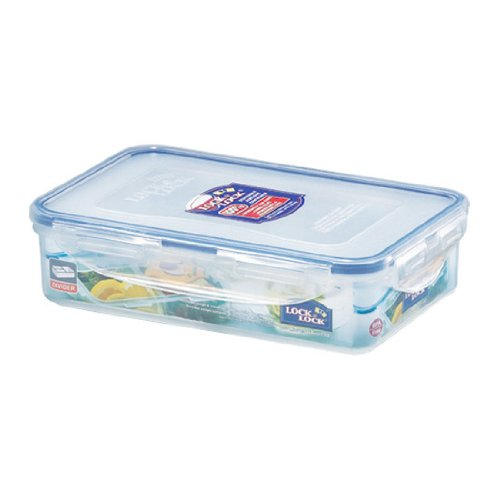 Lock&Lock 27-Fluid Ounce Rectangular Food Container With Divider, Short, 3.3-Cup