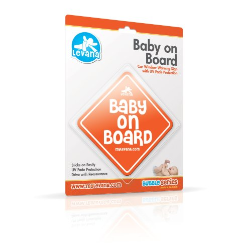 Levana Lv-Bl100 Baby On Board Car Window Warning Sign With Uv Fade Protection (Orange)