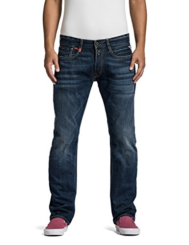 Replay Herren Straight Leg Jeanshose NEWBILL, Gr. W33/L32 (Herstellergröße: 33), Blau (Blue Denim 7) thumbnail