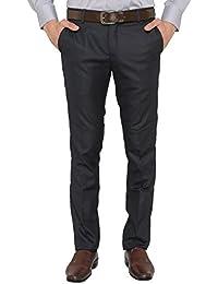 Donear NXG Men's Custom Fit Navy Blue Formal Trouser - B01E71XPP4
