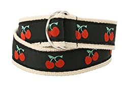 Bean Belts Baby-Girl Classic Cherry Belt, Adjustable