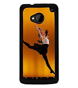 Fuson Premium 2D Back Case Cover Dancing girl With White Background Degined For HTC One M7::HTC M7