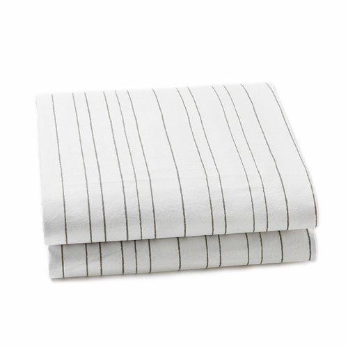 Auggie Crib Sheet, Painted Stripe/Grey