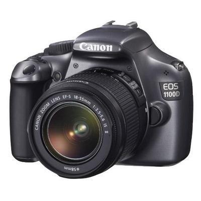 Canon EOS 1100D (Grey) Digital SLR Camera w/ EF-S 18-55mm f/3.5-5.6 IS II Lens