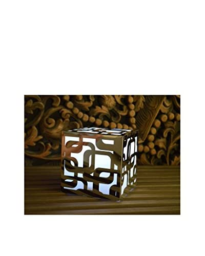 Artkalia Kalis Wireless LED Mood Cube, Glossy Silver