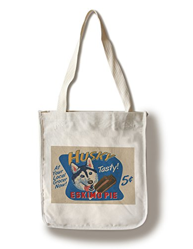 husky-eskimo-pie-retro-ad-100-cotton-tote-bag-reusable-gussets-made-in-america