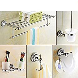 porcelain blue and white porcelain/Bathroom European style Towel rack/Stainless steel Towel rack/Bathroom Bathroom accessories set-L