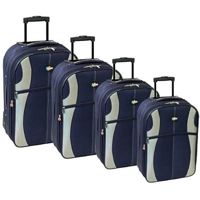 Karabar Set of 4 Super Lightweight Suitcases (Navy/Silver) from Karabar