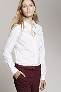 Long Sleeve Stretch Cotton Poplin Shirt