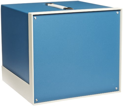 """Bud Industries Bb-1808-Rb Aluminum Showcase Small Cabinet, 11-3/64"""" Width X 9-59/64"""" Height X 11"""" Depth, Royal Blue Texture Finish front-492650"""