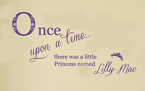 personalised-once-upon-a-time-princess-vinyl-wall-art-sticker-mural-decal-home-wlal-decor-childrens-