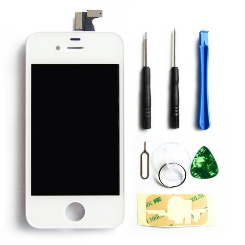 Select Replacement Digitizer And Touch Screen Lcd Assembly For Iphone 4 At&T Gsm + Tools Included White