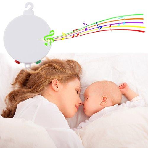 Imagen de AGPtek ® bebé pilas del lecho móvil Musical interpreta doce melodías