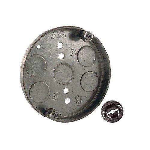 Raco 1-Gangmetal Ceiling Electrical Box- Vq295