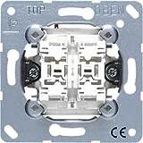 Jung 535U Mécanisme bouton poussoir double 10 AX / 250 V ~ Double à fermeture