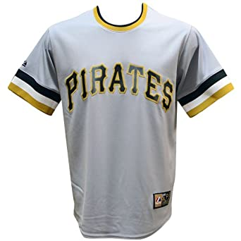 Pittsburgh Pirates Roberto Clemente Gray Cooperstown Replica Jersey by Majestic