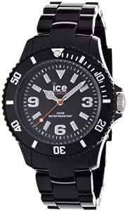ICE-Watch - Montre Mixte - Quartz Analogique - Ice-Solid - Black - Unisex - Cadran Noir - Bracelet Plastique Noir - SD.BK.U.P.12