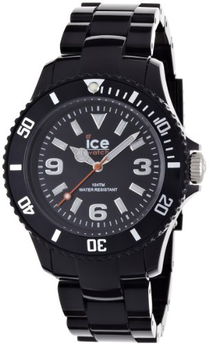 Ice-Watch Unisex Quartz Watch with Black Dial Analogue Display and Black Plastic or PU Bracelet SD.BK.U.P.12
