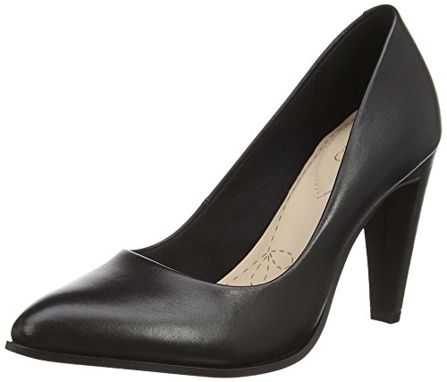 Clarks Azizi Poppy, Decolleté chiuse donna, Nero (Nero (Black Leather)), 39.5