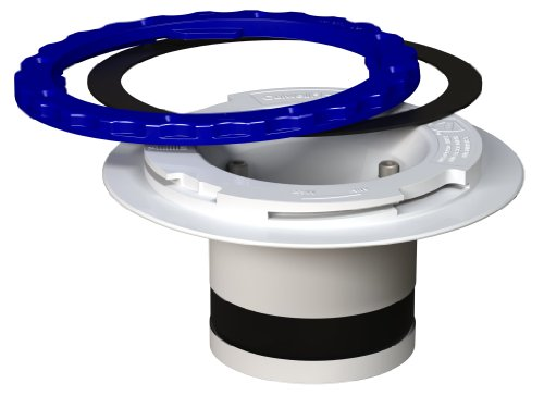 Culwell PC4 Premium Property Saving Toilet Flange with PVC Surface Seal Compression and White/Blue Ring, 4-Inch (Cast Iron Closet Flange compare prices)