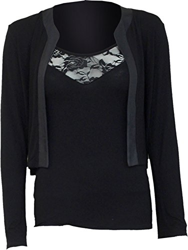 Spiral - Le donne - Gothic Elegance - 2 in1 pizzo Gilet Cardigan Black Small