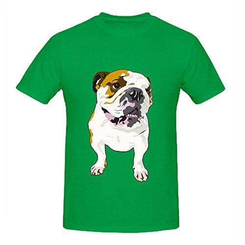 bulldog-mens-crew-neck-custom-shirt-green