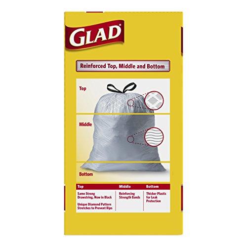 Glad Tall Kitchen Drawstring Trash Bags 13 Gallon 90 Count 885693340981