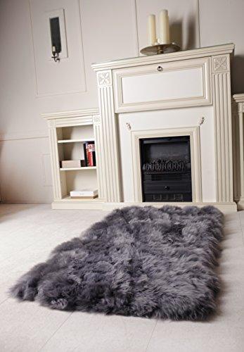 naturasan designer schafsfell lammfell teppich decke dunkelgrau flokati shaggy. Black Bedroom Furniture Sets. Home Design Ideas